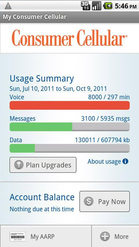 My Consumer Cellular - screenshot