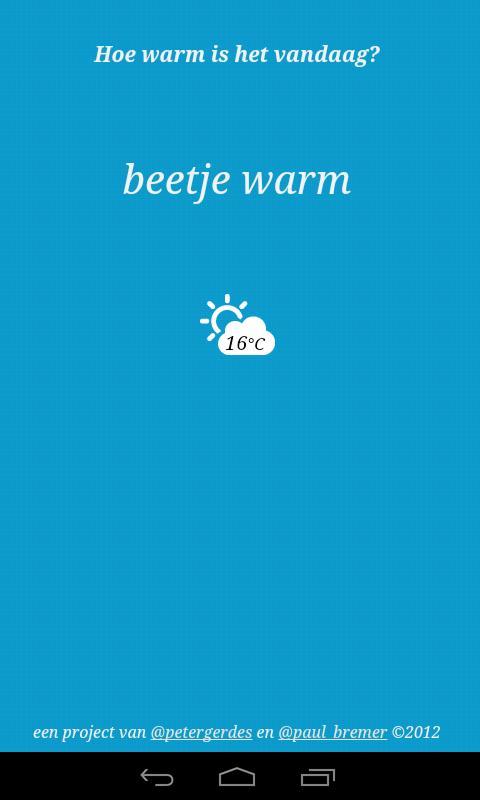 Warmtemeter- screenshot