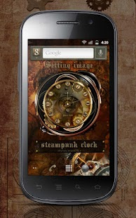 スチームパンクアナログ時計ウィジェット