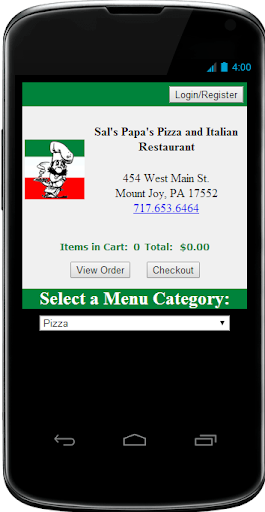 Sal's Papa's Pizza OnlineOrder