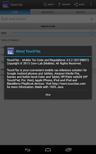 Tax Code and Regs - TouchTax- screenshot thumbnail