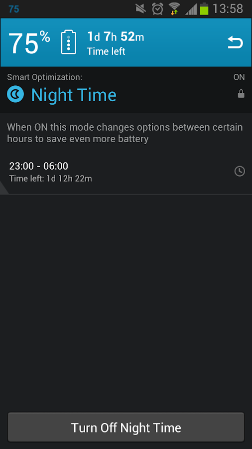Smart Battery Saver- screenshot