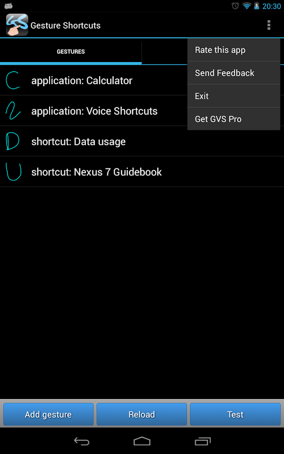 Gesture Shortcuts Launcher - screenshot