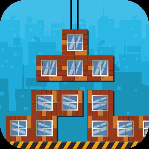 俄罗斯方块大厦-搭建而不是消除 休閒 App LOGO-硬是要APP