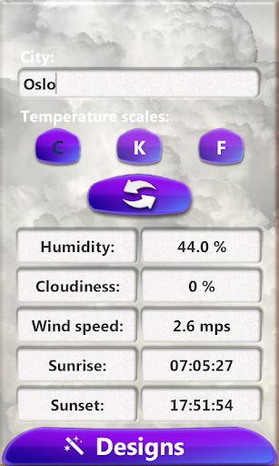 暴風雨天気時計ウィジェット