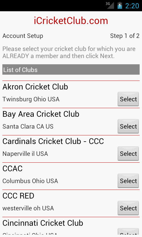 iCricketClub.com- screenshot