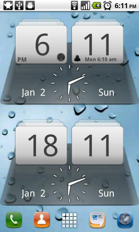 MIUI Digital Weather Clock- screenshot