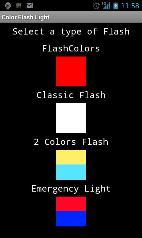 Free Color Flashlight - screenshot