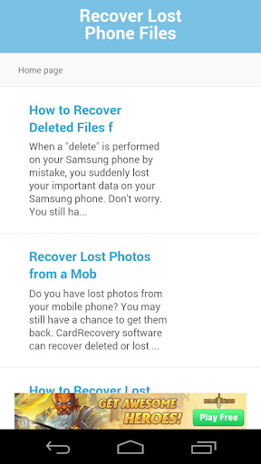 Recover Lost Phone Files