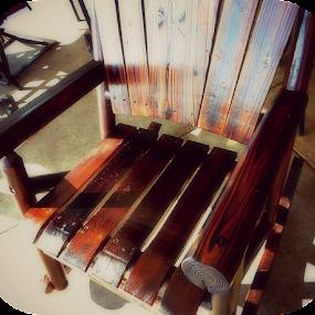 Hand-hewn Rocker by Regina Watkins - Artistic Objects Furniture (  )