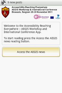 AEGIS Conf. App - screenshot thumbnail