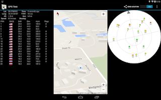 Screenshot of GPSTest