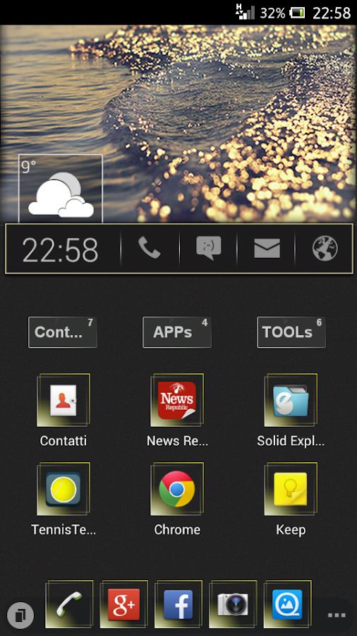 UCCW Skin - Home Bar - screenshot