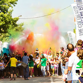 Color Run Braga 2014 - Portugal by Júlio Alves - People Group/Corporate ( color run, braga, portugal )
