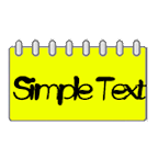 Simple Text Calendar Widget