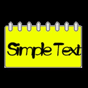 Simple Text Calendar Widget