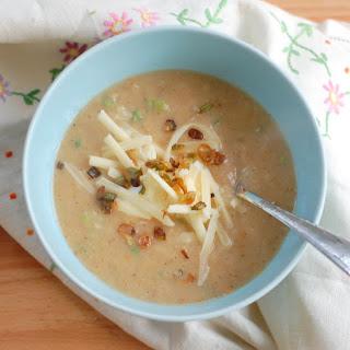 Creamy Potato Soup with Roasted Cauliflower