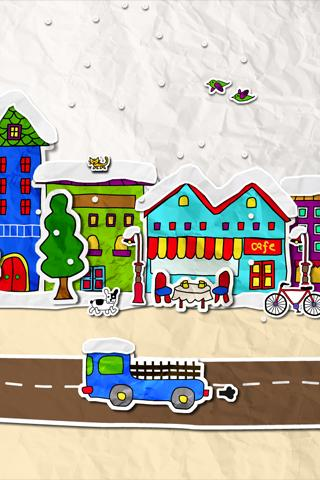 paper town LiveWallpaper - screenshot