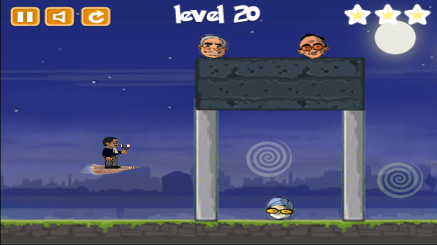 Muffler Man Game on Kejriwal - screenshot