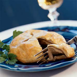 Chili-painted Portabellas in Puff Pastry.