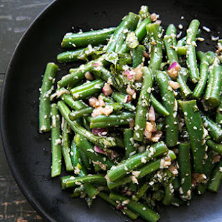 Green Bean Salad with Basil, Balsamic, and Parmesan.