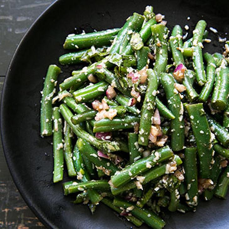 Green Bean Salad with Basil, Balsamic, and Parmesan Recipe