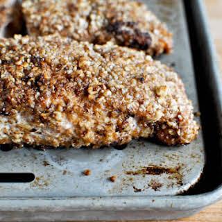 Cinnamon Pecan Crusted Salmon.