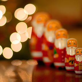 Merry Christmas 5 by Mark Airey - Public Holidays Christmas ( festive, santa, father christmas, russian dolls, christmas, d7000, 50mm, decorations, nikon )