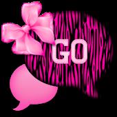 GO SMS - Zebra Pink Bows