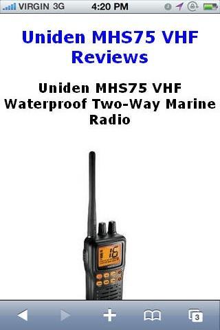 MHS75 VHF Marine Radio Reviews