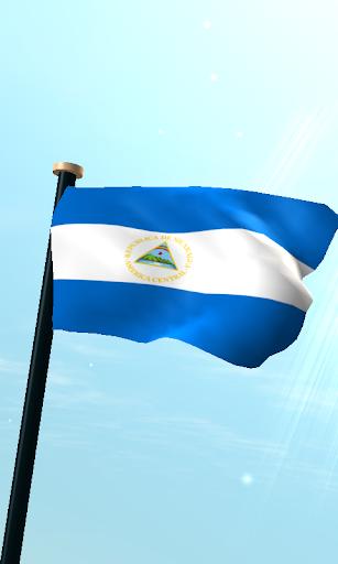尼加拉瓜旗3D免费动态壁纸