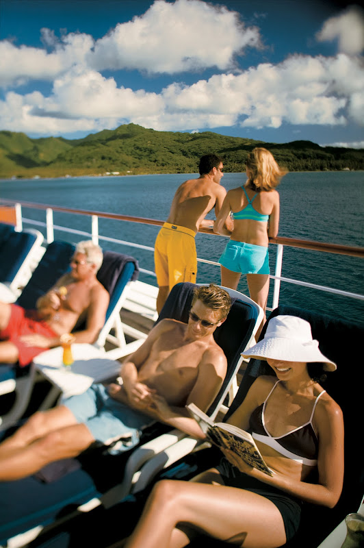The focus is on relaxing in paradise during sailings to French Polynesia on the Paul Gauguin.