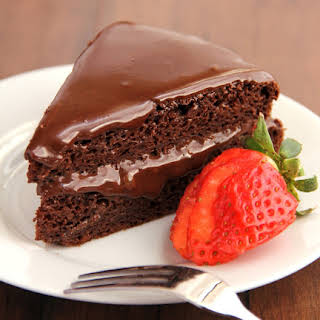 Fudgy Chocolate Cake with Fudgy Chocolate Frosting.