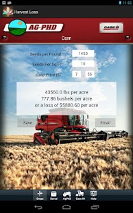 Harvest Loss Calculator - screenshot thumbnail
