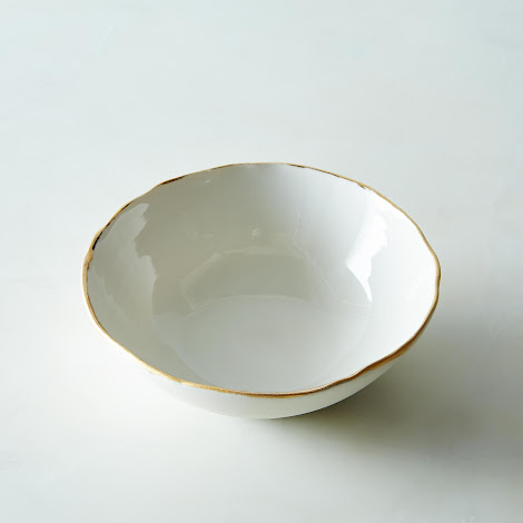 Gold Rimmed Candy Dish