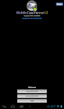 MCV Tablet App for BOSCH DVRs