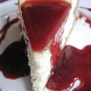 Vanilla Bean Cheesecake.