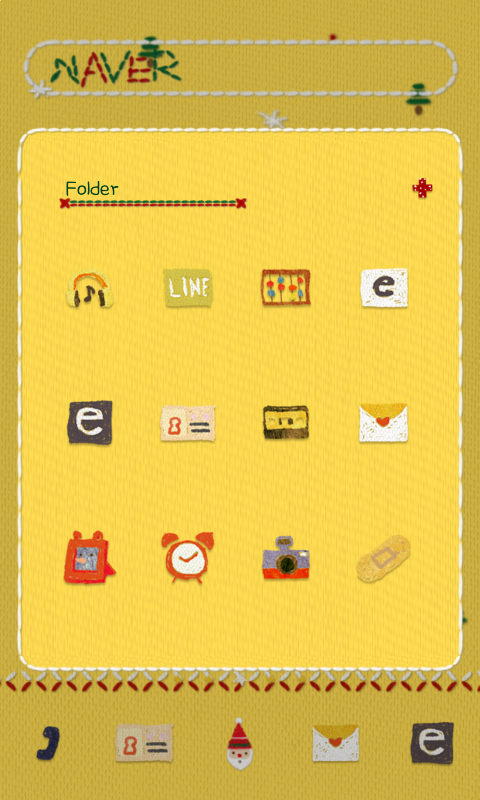 SantaBand dodol launcher theme- screenshot