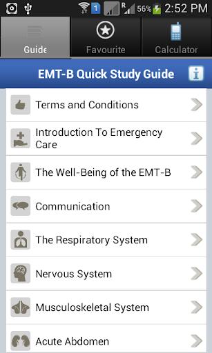 EMT-B Quick Study Guide