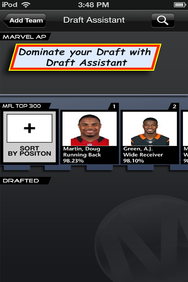 Fantasy Football Draft Asst.- screenshot
