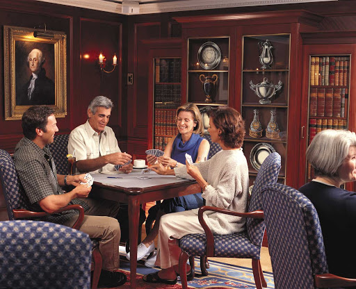 Oceania-Game-room - Challenge your fellow passengers to a friendly round of cards in the Game Room during your cruise on Oceania Nautica.