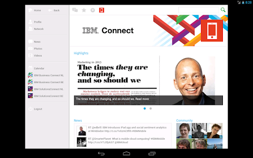 IBM Connect - screenshot thumbnail