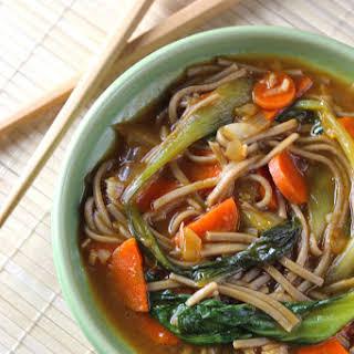 Healthy Asian Soba Noodle Soup.