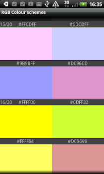 RGB Demo Color schemes