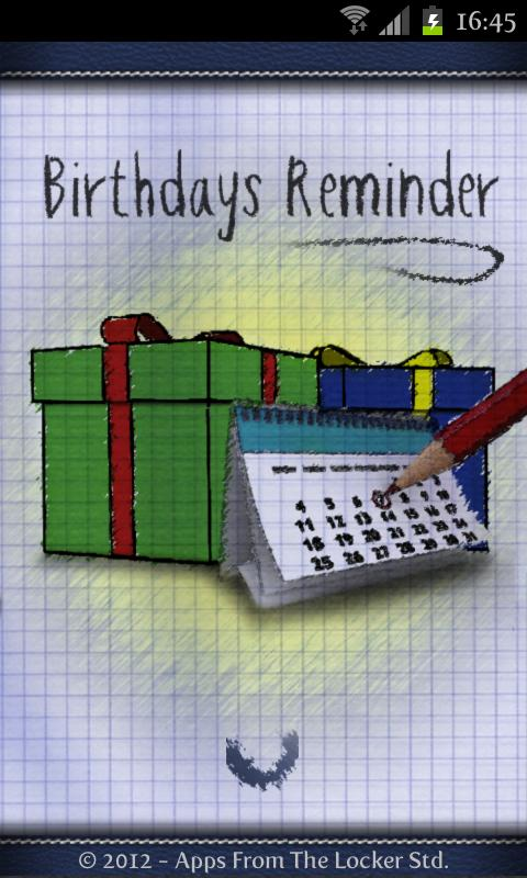 Birthdays Reminder - screenshot