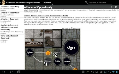Pathfinder Open Reference- screenshot thumbnail