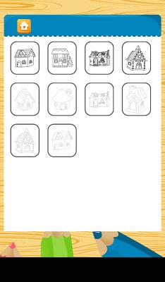 Coloring: Houses - screenshot