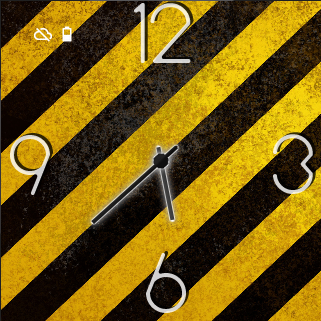 Yellow Stripes Watch Face