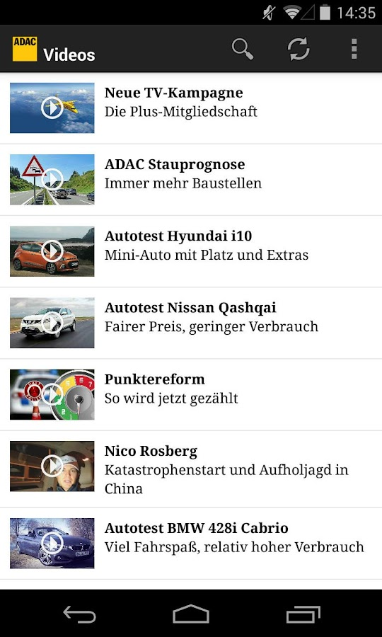 ADAC News- screenshot