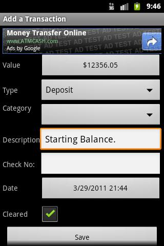 Checkbook (free) - screenshot